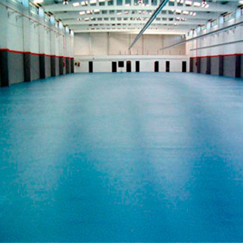 pavimento azul